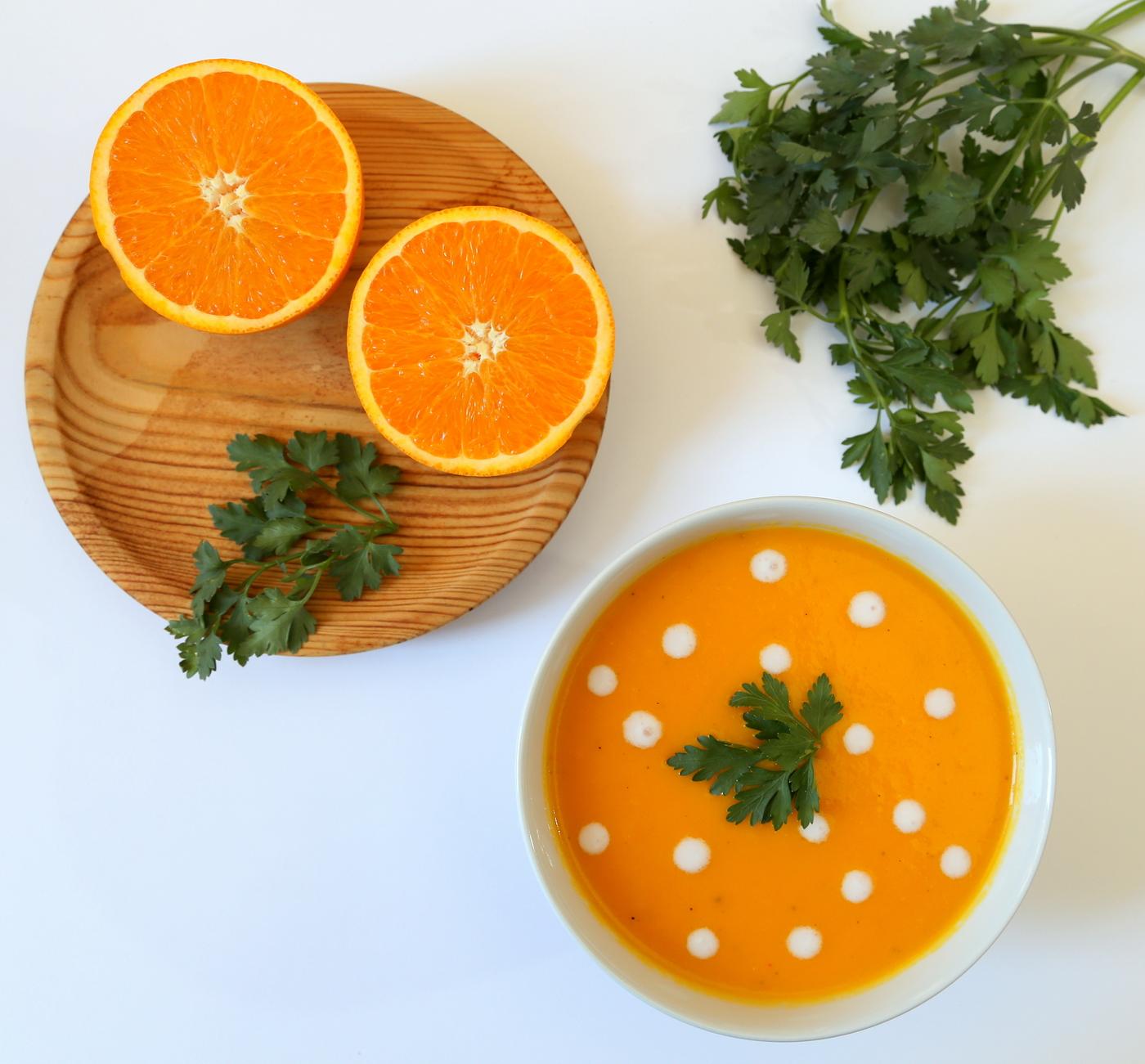 Velouté carottes oranges 1